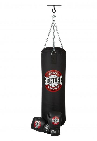 Thunder Boxset von Benlee. Boxsack: ca. 90 x 30cm, ca. 20Kg. Inkl. Deckenbefestigung und Handschuhe