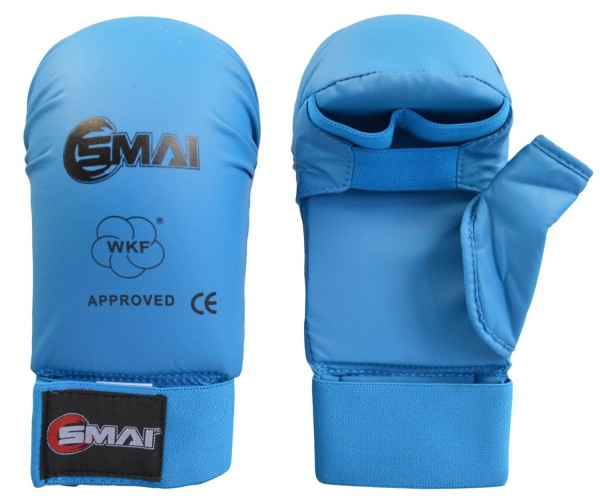 SMAI WKF- Kar-Handschutz m. Daumen blau