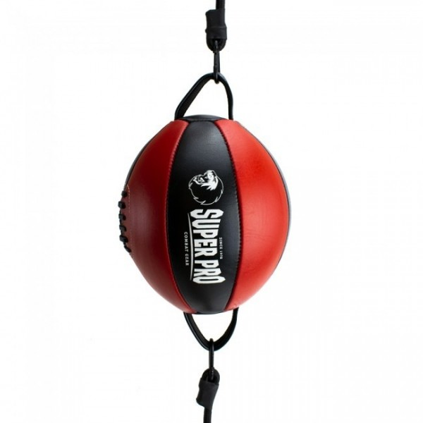 Super Pro Leder Double End Ball Black/Red