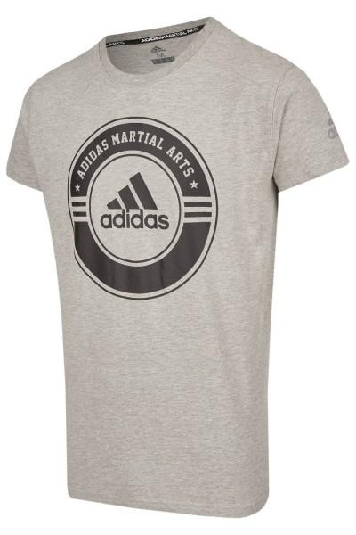 ADIDAS T-Shirt Combat Sport grau-schwarz L