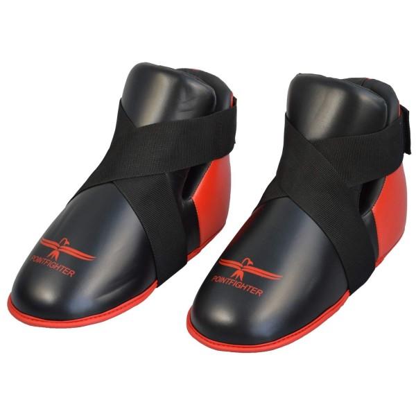 Fußschutz rot-schwarz, Zehentasche