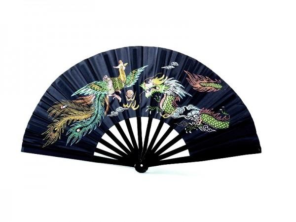 Kung Fu - Tai Chi Fächer Bambus schwarz