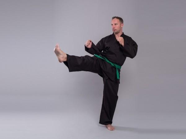 Karate-Anzug schwarz STANDARD EDITION