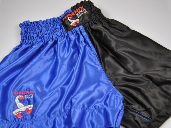 BUDO's FINEST Thai Shorts Schw-blau