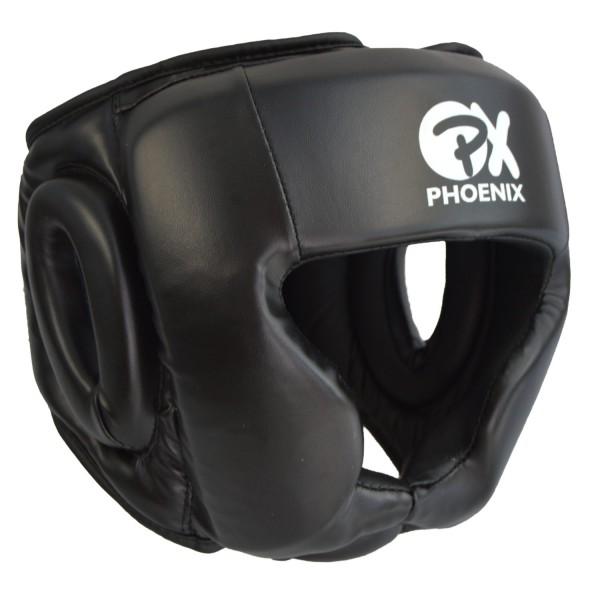 PX PHOENIX Kopfschutz Kunstleder schwarz