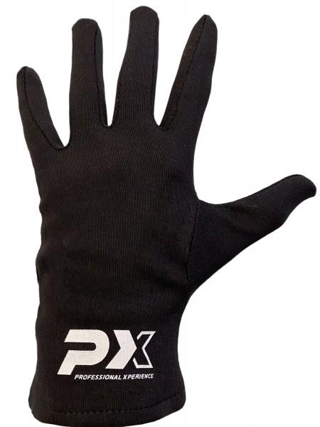 PX Box-Innenhandschuhe mit Fingern, schwarz, S/M