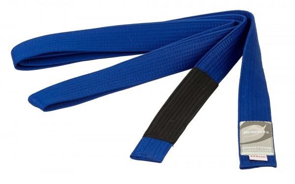 Ju Sports BJJ Gürtel Competition superlight unisize 270 cm, blau-schwarz