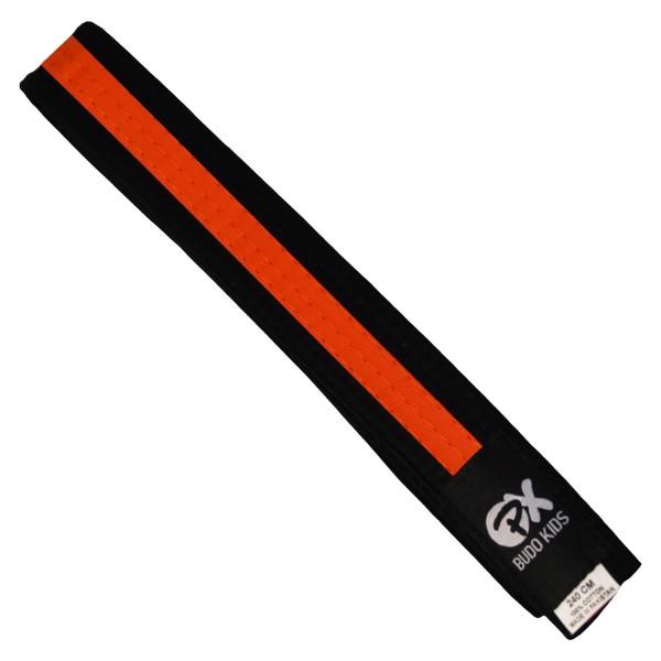 PX Budo Kids Softbelt, schwarz-orange