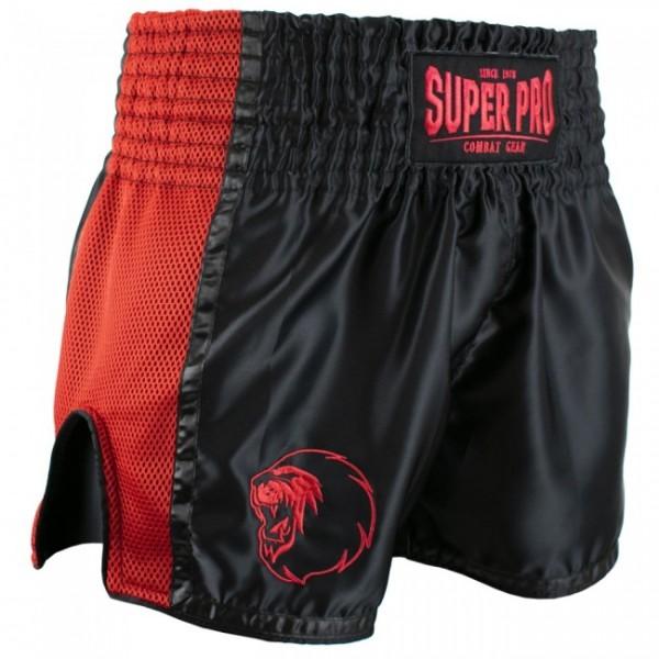 Super Pro Combat Gear Thai- und Kickboxing Short Brave black/red