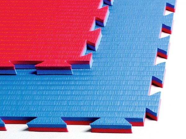 Kampfsportmatten blau-rot ca. 100x100x2cm