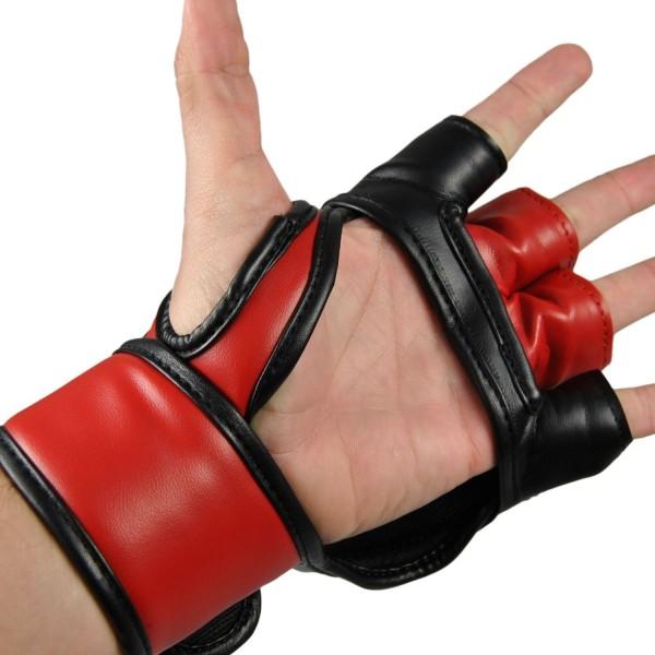 MMA-Handschutz PU schwarz-rot