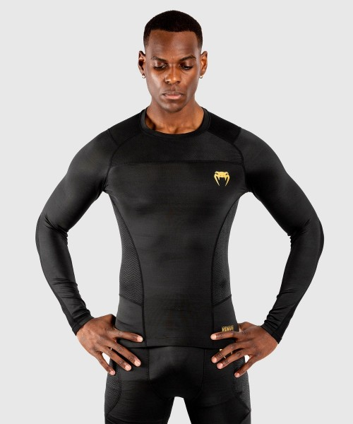 Venum G-Fit Rashguard - Long Sleeves - schwarz/gold L