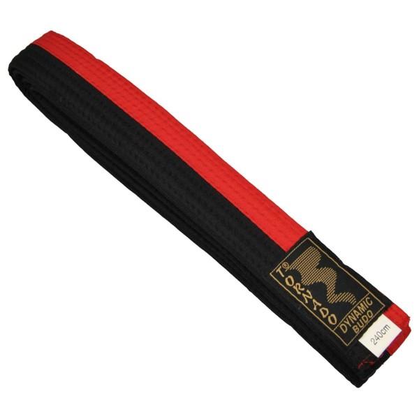 Budogürtel rot-schwarz mittig geteilt