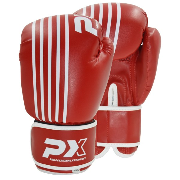 PX Boxhandschuhe SPARRING, PU rot-weiß 8oz