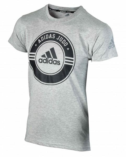 ADIDAS T-Shirt Combat Sport Judo grau-schwarz 140